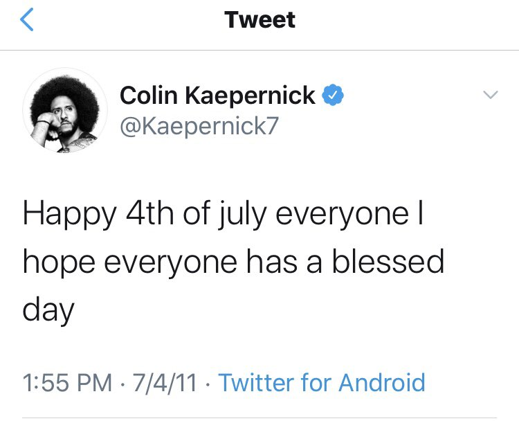 What changed A-hole? #ColinKaepernick @Kaepernick7