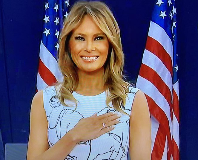 Melania turns on that million megawatt smile and the liberals go into troll purgatory for a month. They lose their warped little minds. It's just delicious!