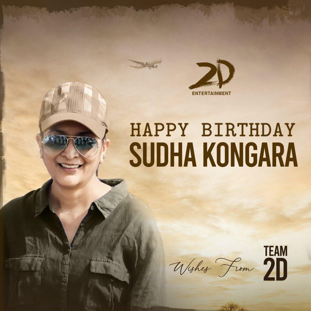 #HappyBirthday to #SudhaKongara. Wishing you all the best and a great year ahead. Waiting eagerly to watch #SooraraiPottru!  #HBDSudhaKongara
