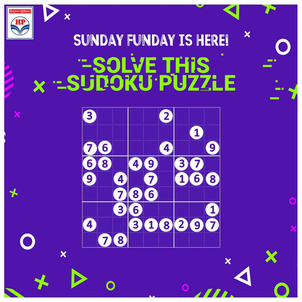 It's time for some fun. Here's a simple Sudoku puzzle for you. Solve it and share the screenshot below. Let's see if you get it right! #SundayFunday