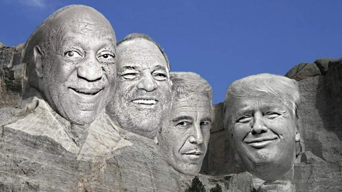 Perhaps Trump should hold his next rally here at Mount Touchmore...  Cosby - Weinstein - Epstein - Trump   #Resist #Trump #1u #NotMeUs #maga #qanon #wwg1wga #DumpTrump #VoteTrumpOut