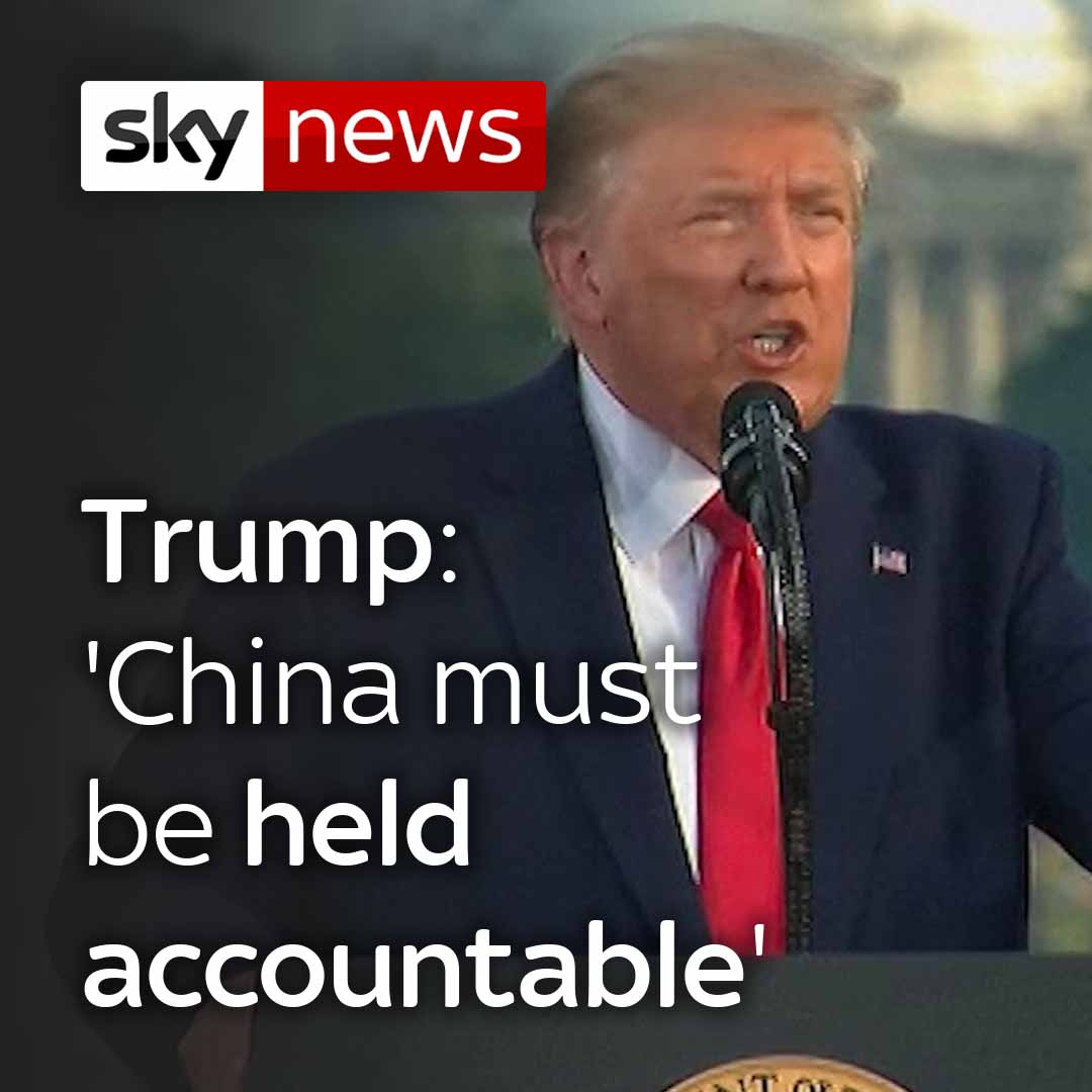 Donald Trump warns China will be held accountable over the spread of #coronavirus adding 99% of cases in the US are 'totally harmless'.  Get more on this story here: