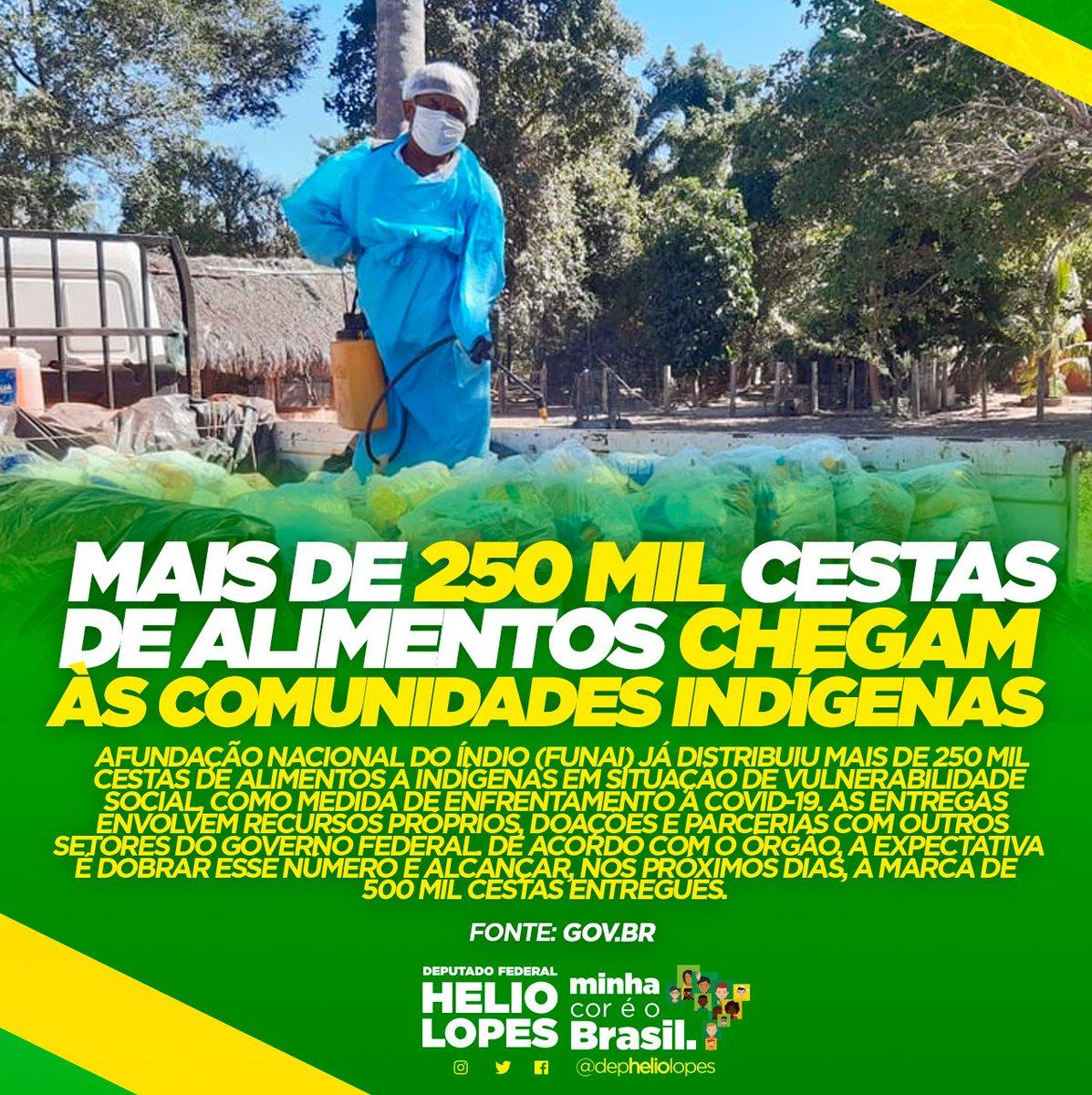 👉🏿👉🏿Mais de 250mil cestas de alimentos chegam as comunidades indígenas 🇧🇷  #depheliolopes #minhacoréobrasil