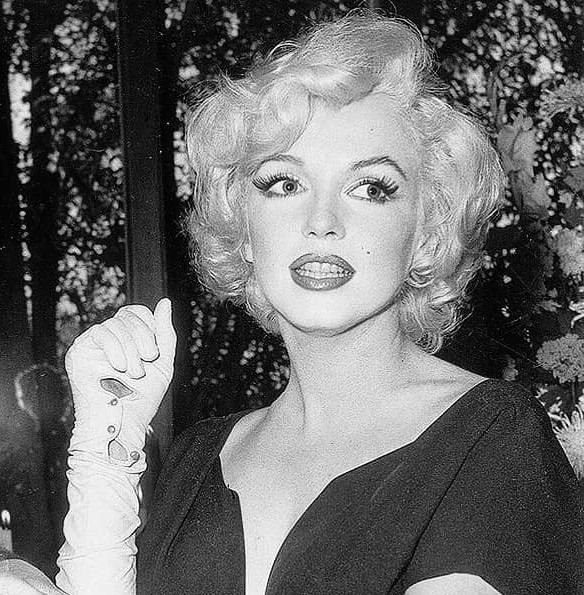 """Marilyn Monroe at the press party announcing the filming of """"Some Like it Hot,"""" in 1958. https://t.co/4auXz356kr"""
