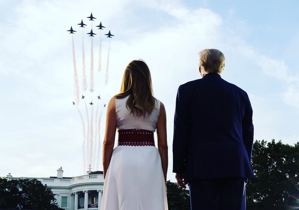 It was a beautiful evening at the @WhiteHouse celebrating #IndependenceDay 🇺🇸