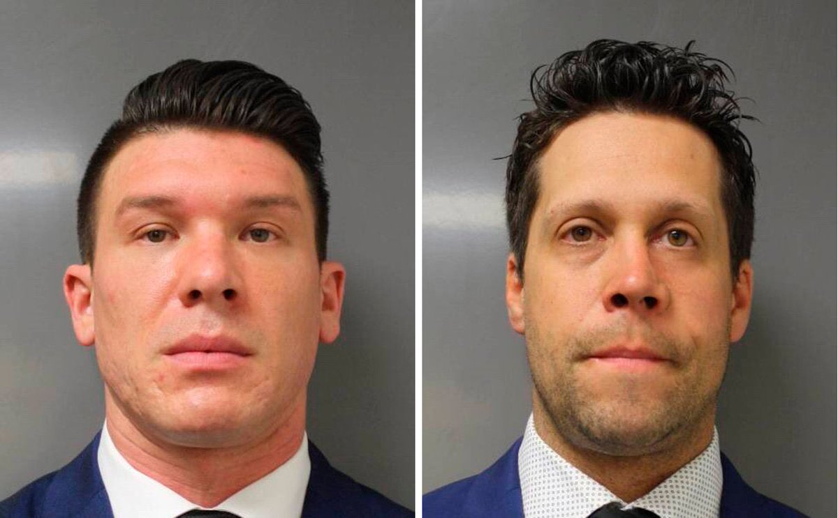 Aaron Torgalski and Robert McCabe, the two cops who pushed over Martin Gugino and left him with brain damage that he will never recover from, go back on BPD's payroll tomorrow. Share their faces, never let them live another day in peace. These men are scum.