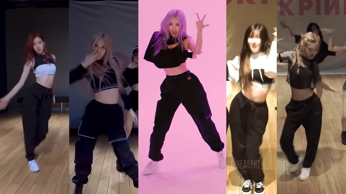 #ROSÉ Queen of Crop tops + sweatpants during #BLACKPINK dance practices, we love to see it