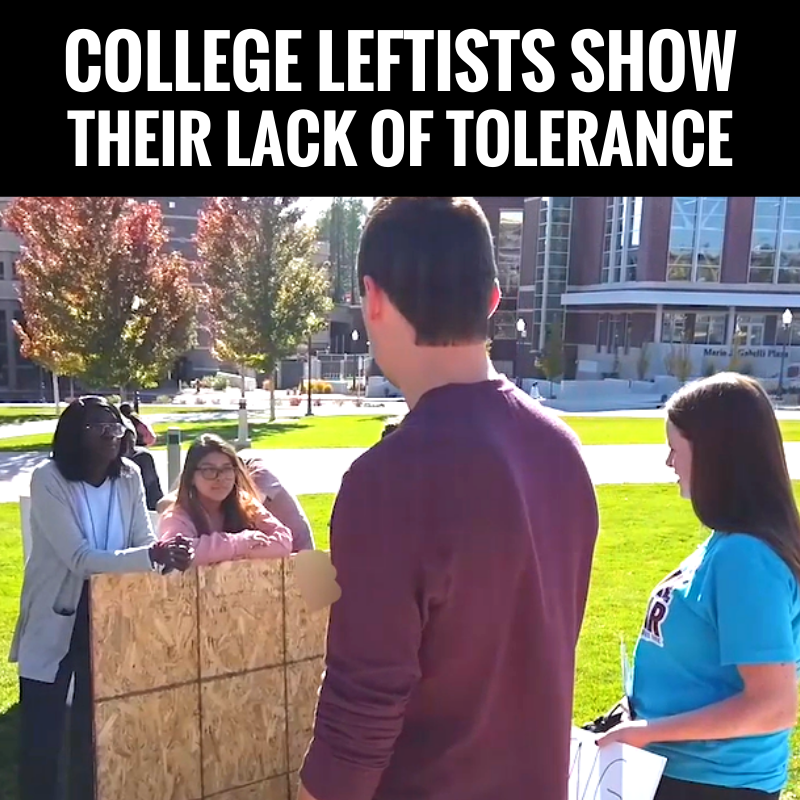Leftists are the most intolerant people in America. They hate the idea that there are other ideas.  Get the facts and tools you need to push back against their anti-American, intolerant ways  Subscribe HERE:
