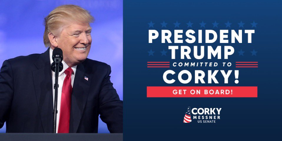 Excited President @realDonaldTrump will be back in the Granite State on Saturday (7/11) - and I'm proud to have his endorsement!  FOR TICKETS 🎫:   @TeamTrump @NHTrumpVictory   #nhpolitics #NHSen #MAGA2020 #LFOD #FITN
