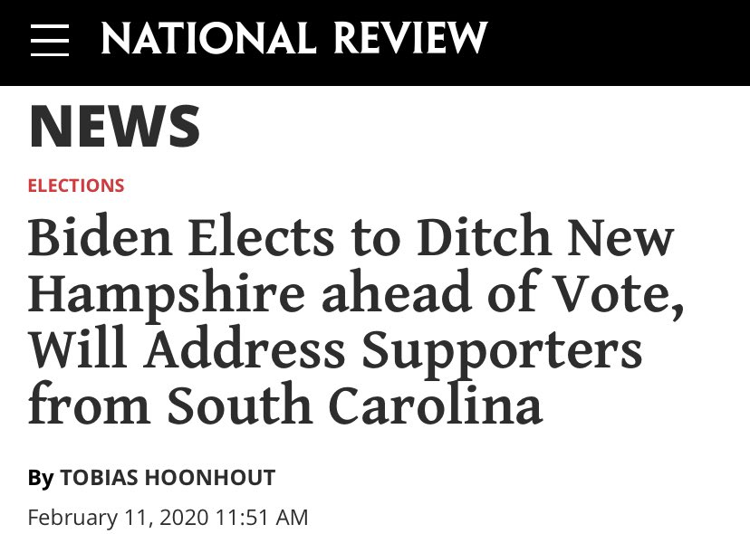 @ChairmanBuckley @NHDems Joe Biden left New Hampshire before polls closed in #FITN and hasn't come back since.  #nhpolitics