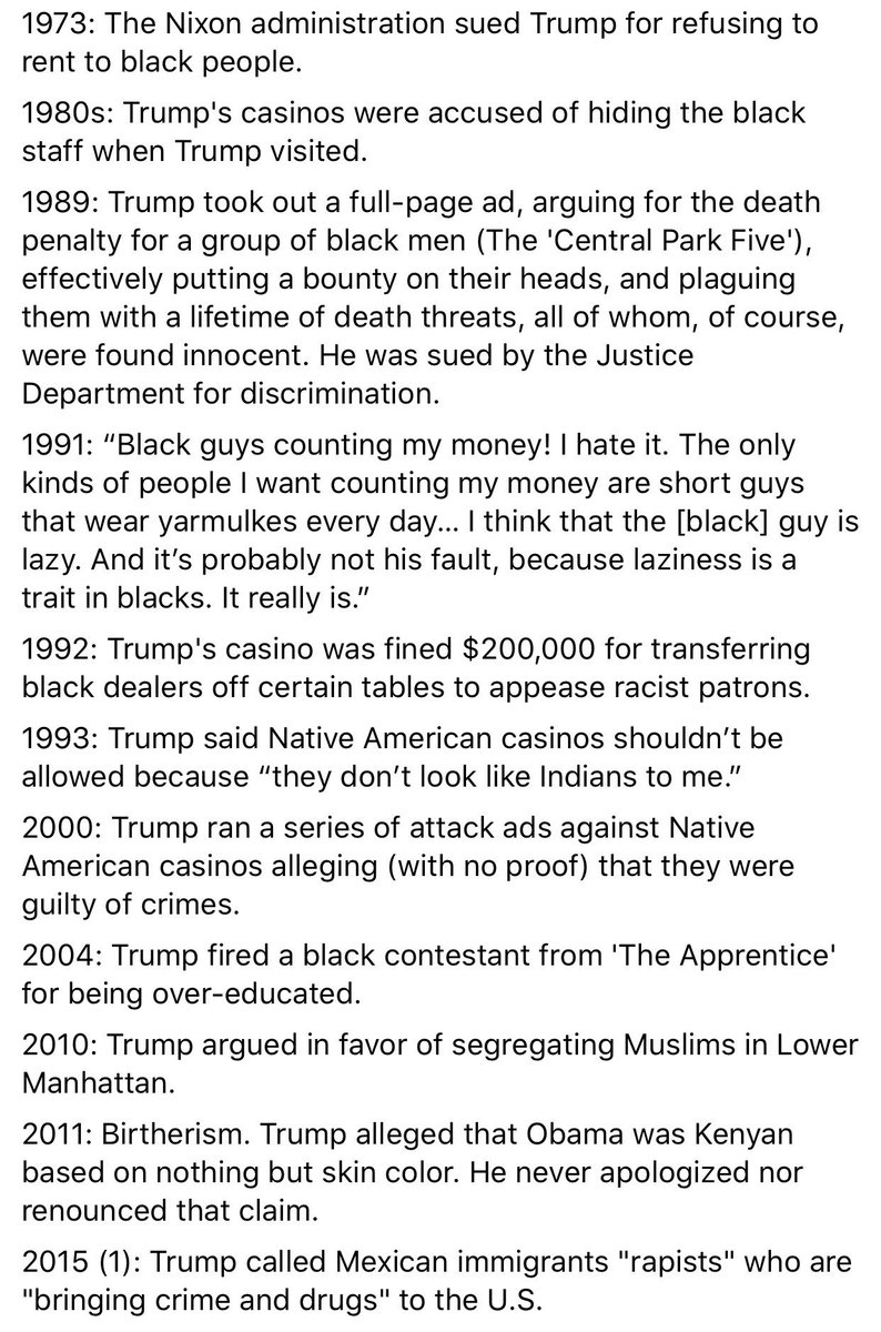 if anyone was dumb enough to wonder why you can't support trump and care about black lives: here you go