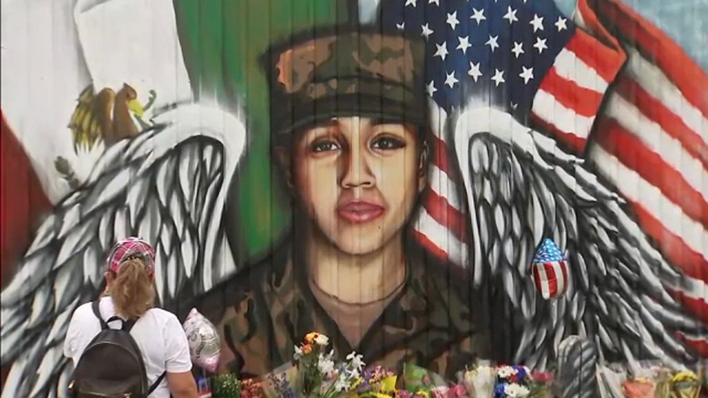 New mural pays tribute to fallen soldier Vanessa Guillen in her neighborhood