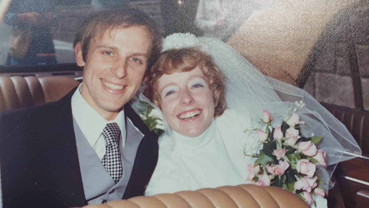 I married Alison 46 years ago today.  Three children and six grandchildren later we are still happily married.  The restaurants opened just in time, I'm taking her out to my favourite Thai place tonight.  The time has flown by, I wouldn't change a second.
