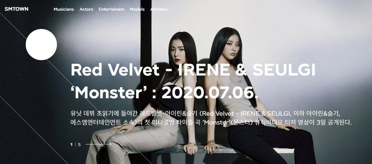 เหมือนว่าหน้าเว็บจะกำลังแก้เรื่องเวลาปล่อย MV เพลง Monster ของยูนิตไอรีน&ซึลกิอยู่ค่ะ😩  #MonsterMV #RedVelvet_IRENE_SEULGI_Monster #IRENE#SEULGI@RVsmtown