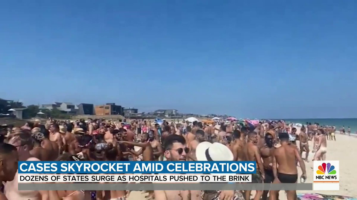 New coronavirus cases are exploding from coast to coast, and there are fears that Fourth of July crowds will only make things worse. @SamBrockNBC has more.