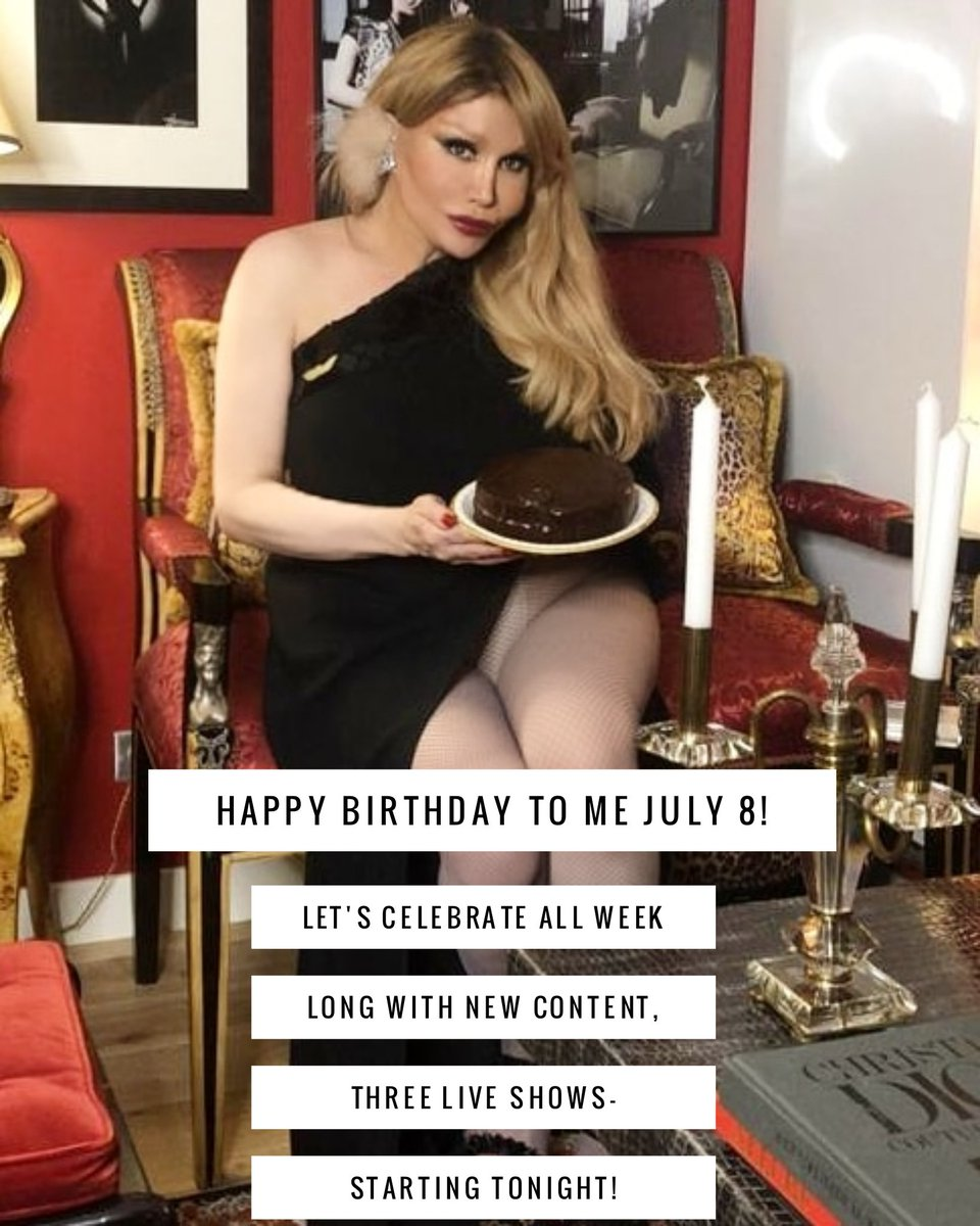 Birthday Week Celebrations! It's my birthday on Wednesday and I will be celebrating on my only fans  with daily updates and three live shows this week! Starting tonight- 11 PM PARIS TIME! Lingerie Modelling !