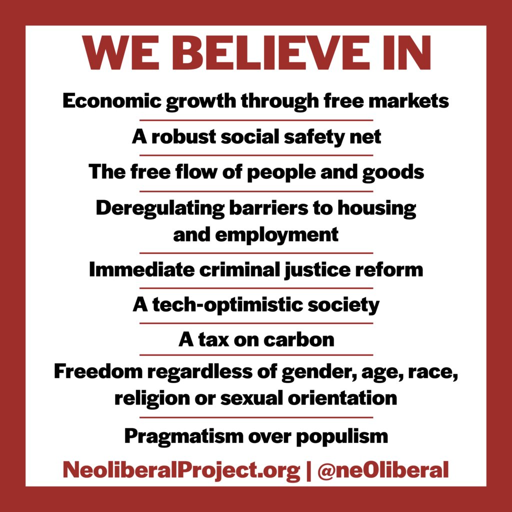 What do Neoliberals stand for?  A thread/