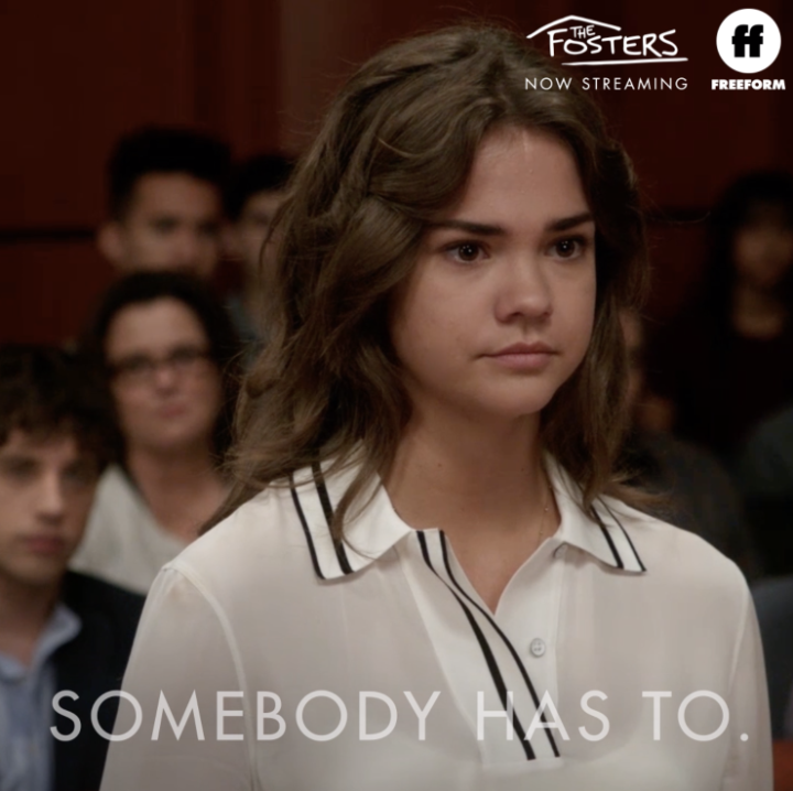 It is your job to give something back. To use your privilege and be a voice for those who are silenced. ___________________________ Starting today, stream The Fosters from the beginning on @Hulu.