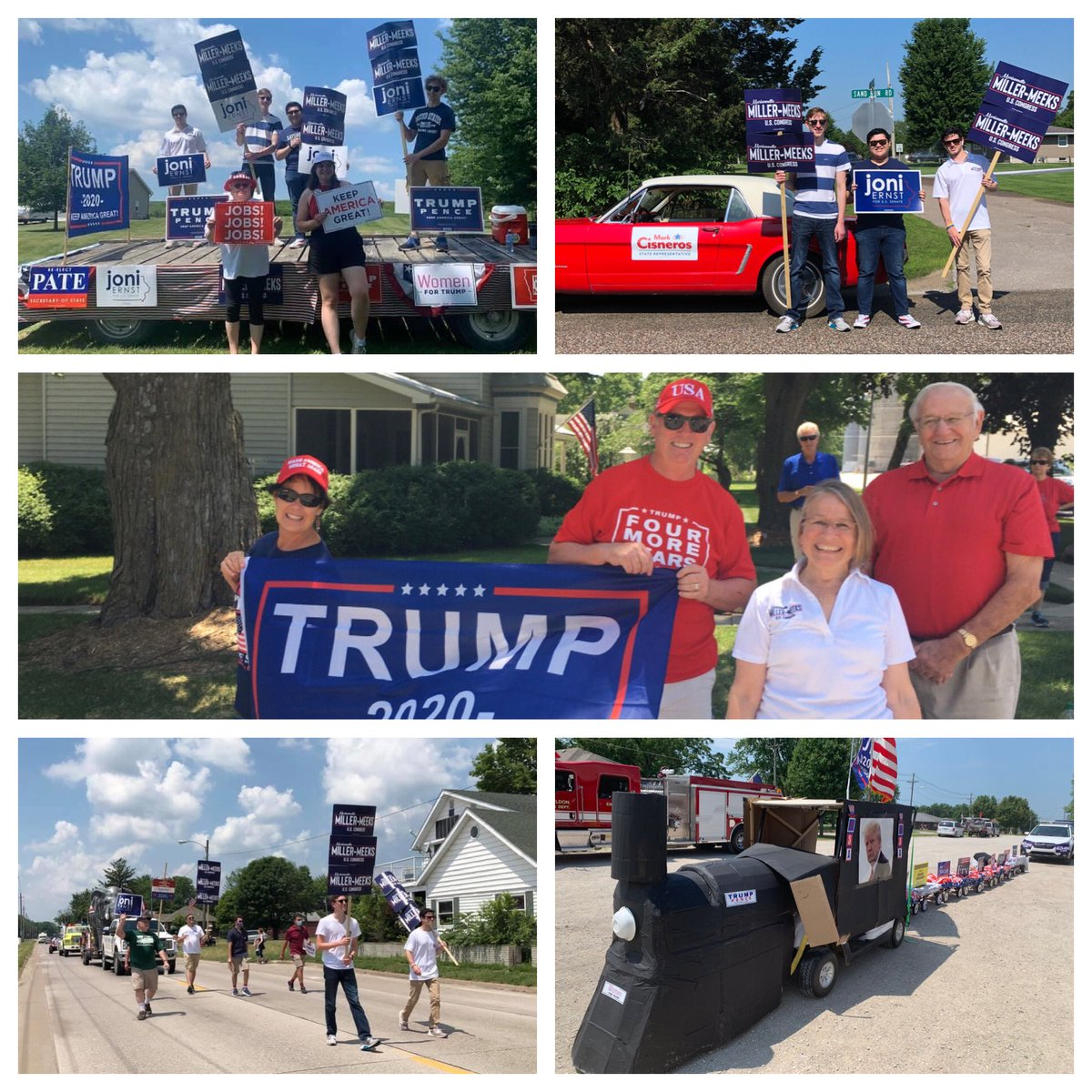 We had a wonderful weekend visiting towns across the 2nd district this 4th of July weekend!   Thank you for hospitality, good food and fireworks! #ia02