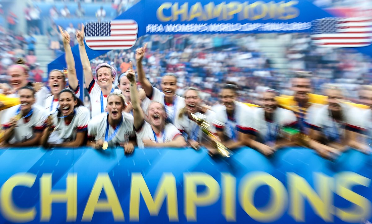🇺🇸⭐⭐⭐⭐  How @USWNT won the 2019 #FIFAWWC Final.  One year ago today.  In 30 seconds. 🎆