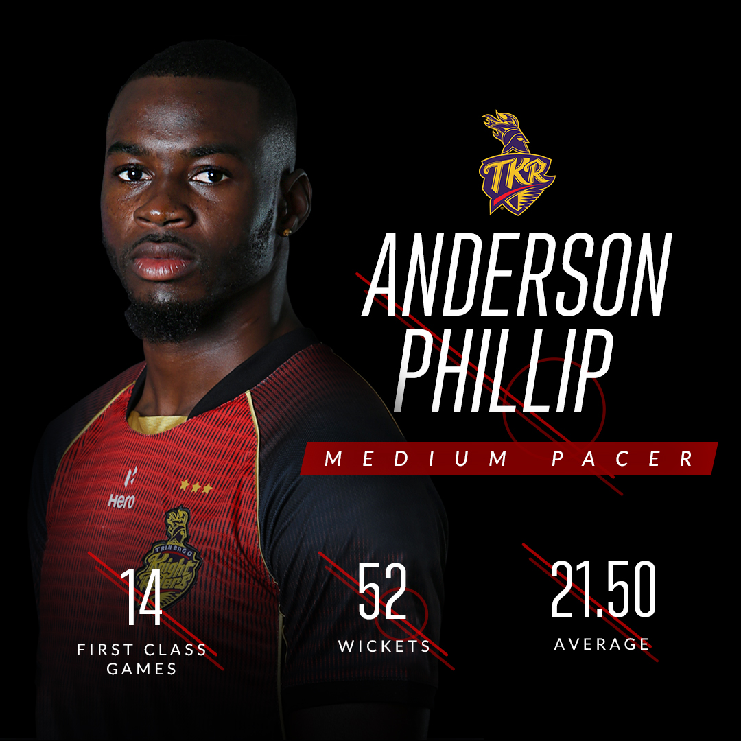 #TKR #CPLDraft ⚡️  With #AndersonPhillip back in the squad, that's 11 local Trini talents making up our 17-member squad for #CPL2020 🇹🇹  #TrinidadAndTobago #TrinbagoKnightRiders  @CPL #Cricket #CPL20 #CricketPlayedLouder