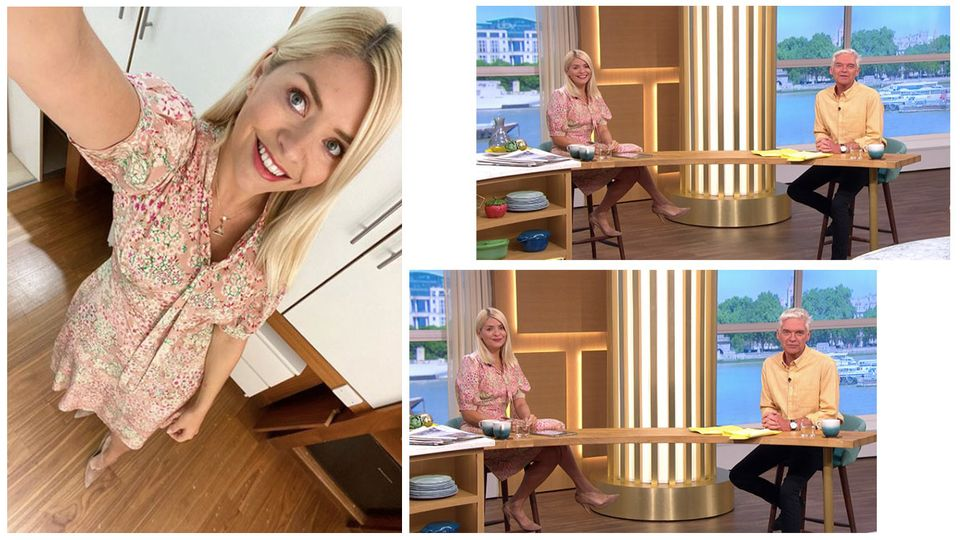 Where to buy Holly Willoughby's floral midi dress from today's