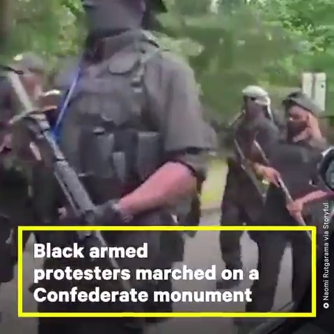 Approx 200 protesters gathered in Georgia on July 4 to demand the removal of America's largest Confederate monument