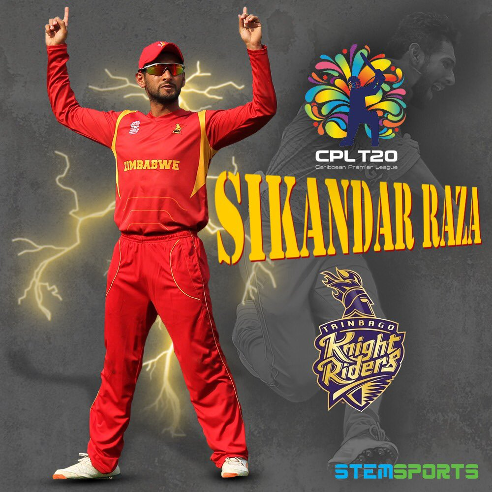 Sikandar Raza will be part of @TKRiders in the @CPL 🏏🎉🥳✊  #Cricket #CPL #T20 #AllRounder #SRB24 #Zimbabwe #Deals #StemSports