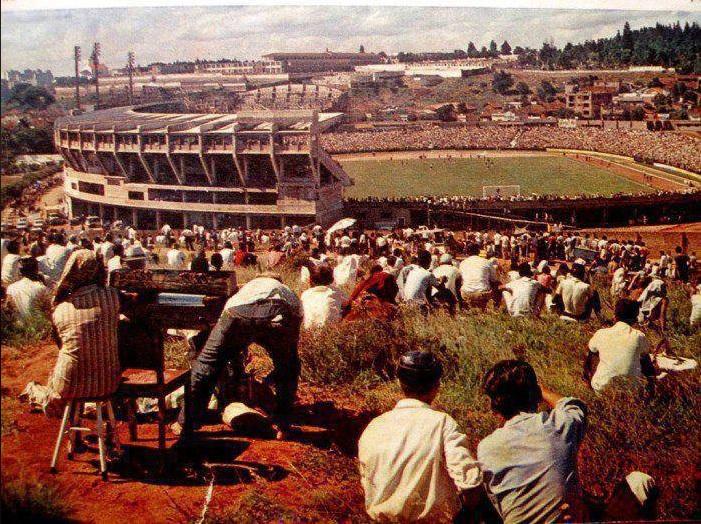 Antigo Estádio Olímpico Monumental, do Grêmio, em 1968.