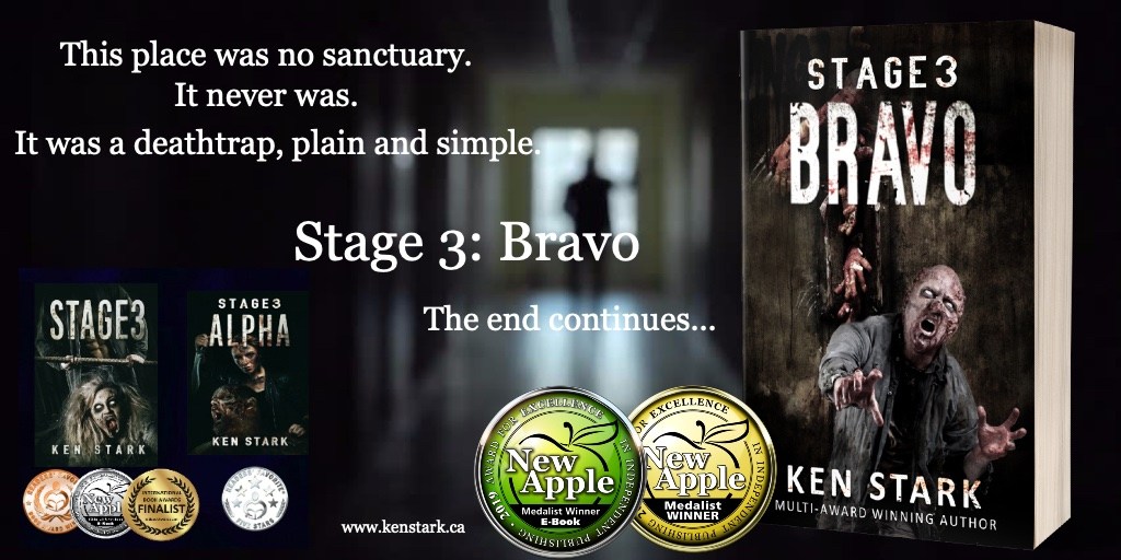Two days. That's how long they had. Two days, and they were done.    Stage 3: Bravo  FREE on Kindle Unlimited! #Zombie #Apocalypse #horror #Stage3 #thriller #survival #series #IARTG #dystopian @NewAppleAwards #postapocalyptic #scifi #Stage3Bravo