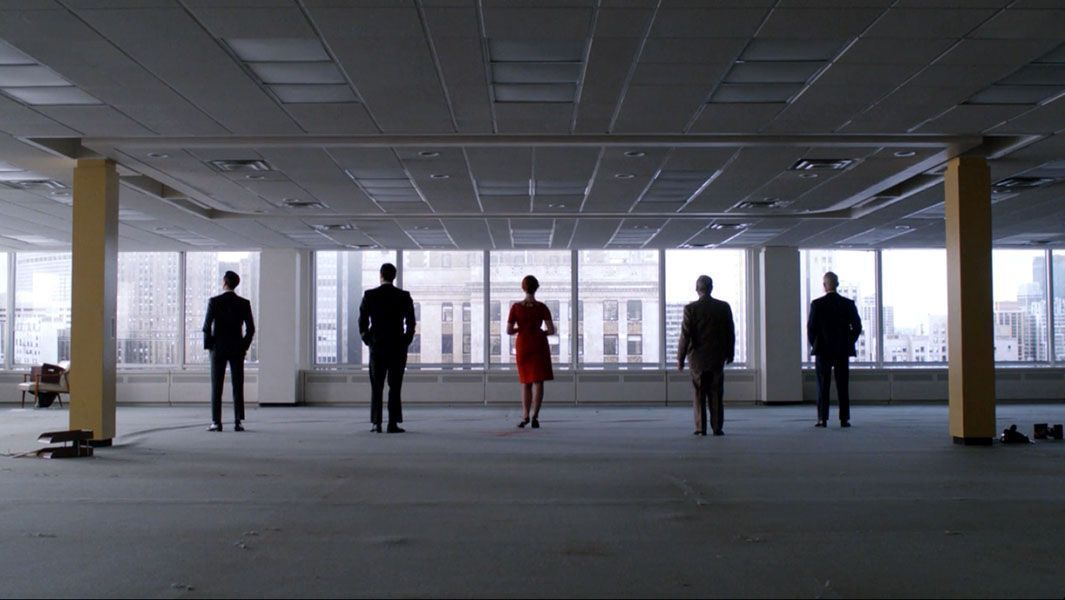 """MAD MEN (2007)  Cinematography by Chris Manley Directed by Matthew Weiner From the episode """"The Phantom"""" Explore more shots in our database:"""