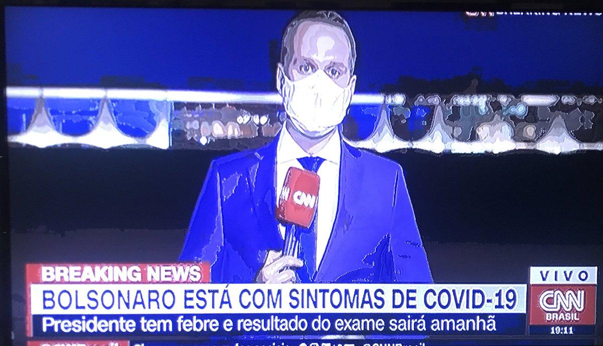 Jair Bolsonaro has Covid-19 symptoms, temperature, test results due by noon tomorrow, CNN says