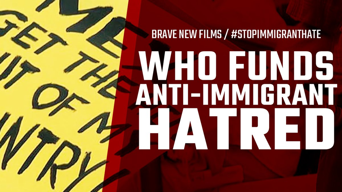 """Our film """"Who Funds Anti-Immigrant Hatred - Web of Hate"""" (2015) uncovers the influence @FAIRImmigration has on anti-immigrant legislation.  Their influence fuels cruel actions #ICE continues to implement.  Retweet this video, help STOP THE HATE and expose the source!"""