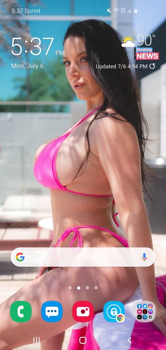 Thanks to @ANGELAWHITE,  Daddy's got a new sexy wallpaper!  #AngelaWhite  #AngelaWhiteFans