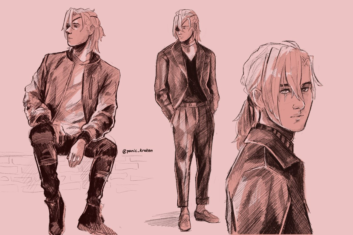 pose & clothes reference practice ft. dimitri  thread will have the reference pictures I used + a video playback of the drawing!! #fe3h