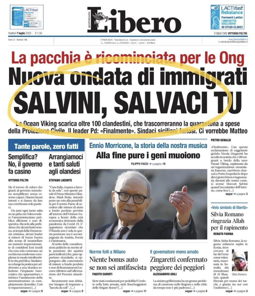 Riparte il business dell'#immigrazione clandestina e ricomincia la pacchia per le #ONG. Ringraziamo #Pd e #M5S. #PrimagliItaliani 🇮🇹