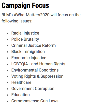 Not only did Don Lemon repeatedly cut @terrycrews off but he lied on camera... he said black lives matter was about police brutality but according to their 2020 campaign, that's only a small part of it