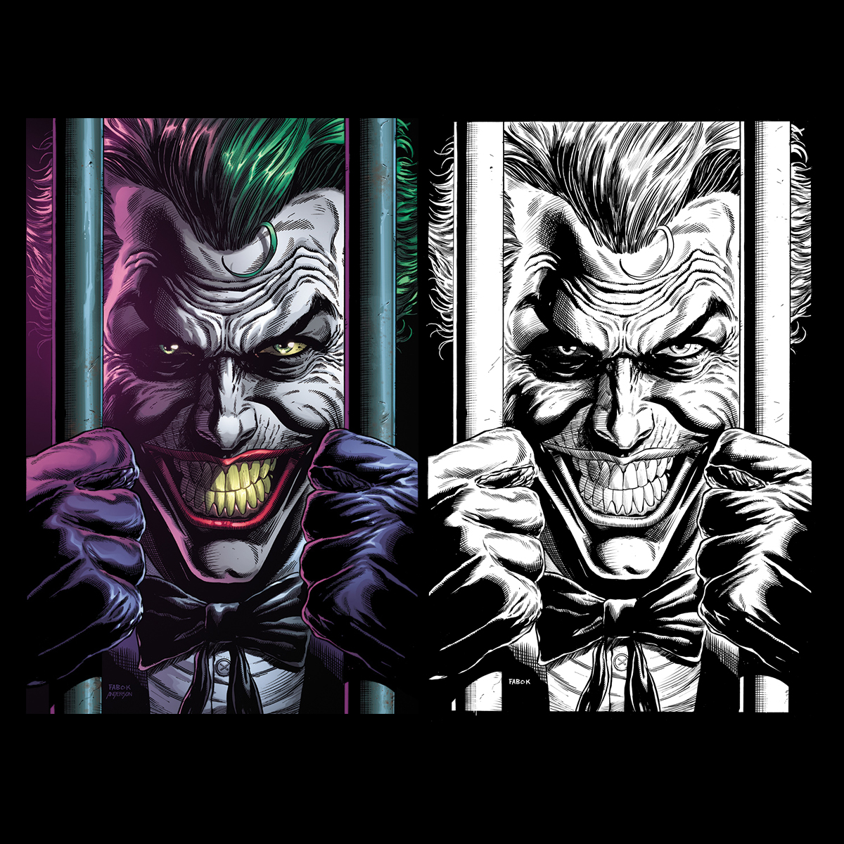 A look at the Joker Behind Bars cover for #Batman: Three Jokers!  You still have a little more time to pre-order the book but the date is fast approaching when orders will be closed.  Call your local shop today and support them! colors by the great @bdanderson13