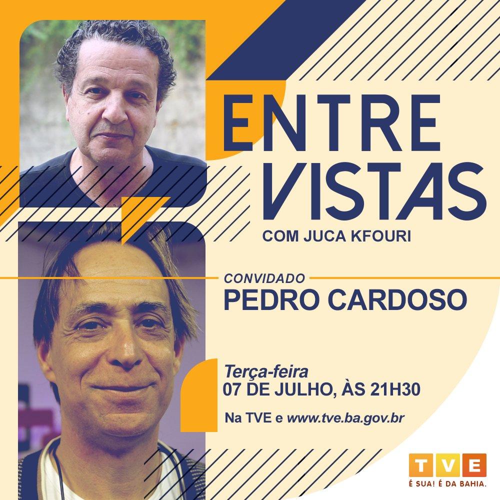 O Entre Vistas desta terça (7) recebe o ator Pedro Cardoso para uma conversa sobre democracia e a resistência dos artistas no Brasil e no mundo.  #EntreVistas, toda terça, às 21h30, na #TVEBahia e   #TVT #RedeTVT