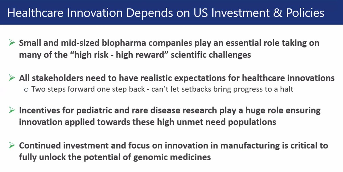 Continued R&D investment is the key to fueling further healthcare innovation - sounds obvious, but also a huge component to our arguments against @CAgovernor and the #CAlegislature's elimination of R&D credits in CA via the recent state budget.