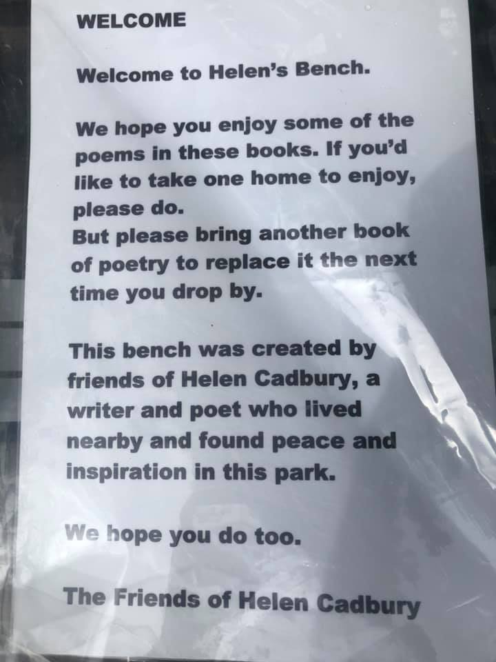 test Twitter Media - The Friends of poet @helencadbury have created a Poetry Exchange at her bench in @Glen_gardens in York. Everyone is welcome to sit & enjoy reading one of the books 📚 or borrow one, leaving another in its place. https://t.co/Wl0xesbzXT