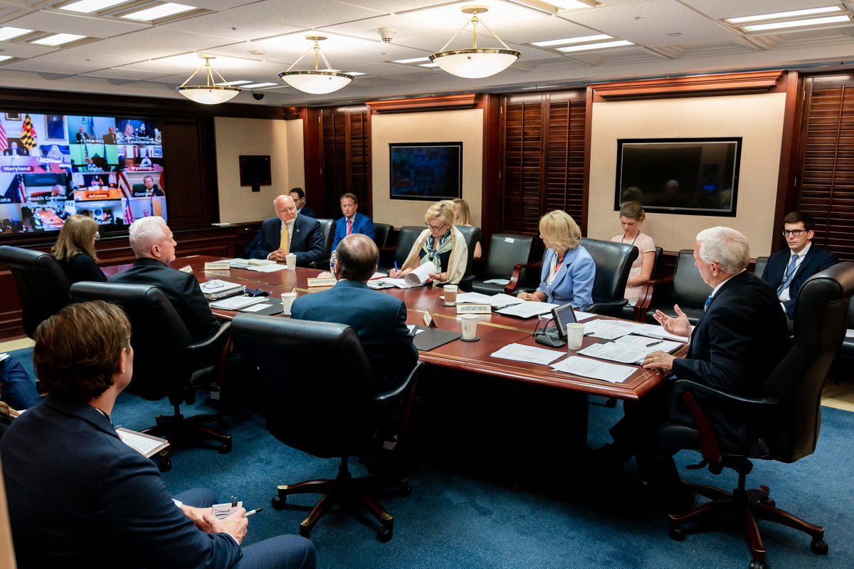 The @WhiteHouse Coronavirus Task Force had a good call with Governors. Reopening schools is first and foremost about America's kids & then it's about working American families & Opening Up America. We must open up schools Nationwide this fall & get students back in the classroom!