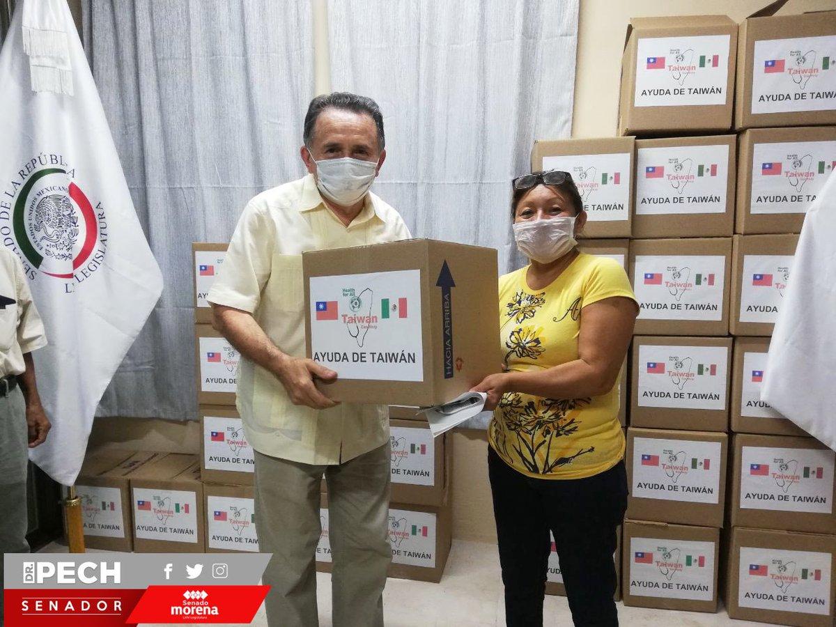 🔴 Con las despensas que nos donó el pueblo de @taiwan_mexico, pudimos ayudar a familias afectadas por el #Covid19 en Chetumal.