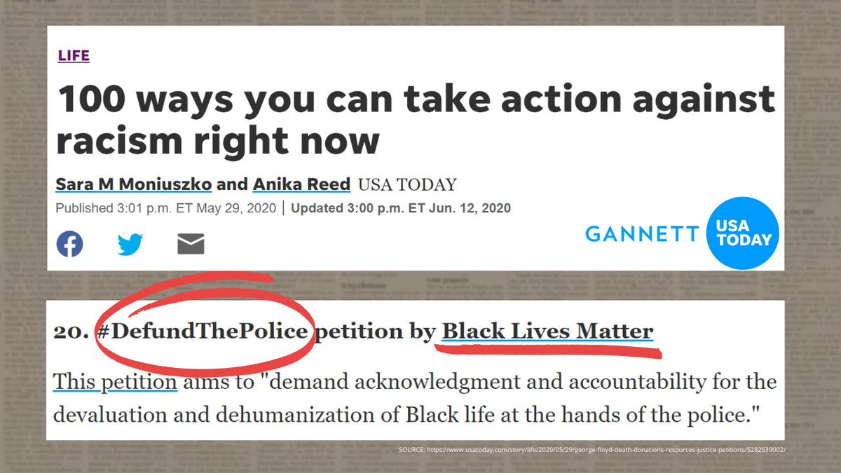 American newspapers should not be driving their readers to an entity that seeks to dismantle law enforcement.  It's sick. It's anti-American.  CC: @Gannett
