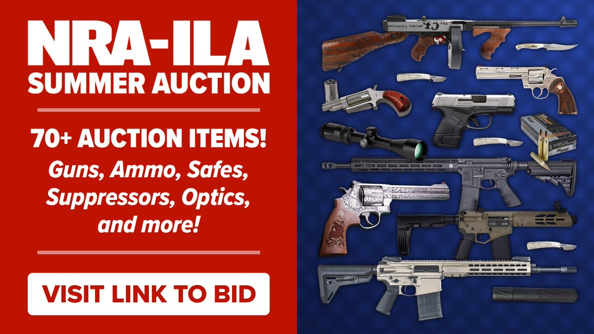 The NRA-ILA Summer Auction is LIVE!   Bid on 70+ items including the Trump Tommy Gun, the 2020 Colt Python, ammo, and more! This auction benefits NRA-ILA and our fight to defend your 2nd Amendment and self-defense rights across all 50 states.  BID NOW ➡️