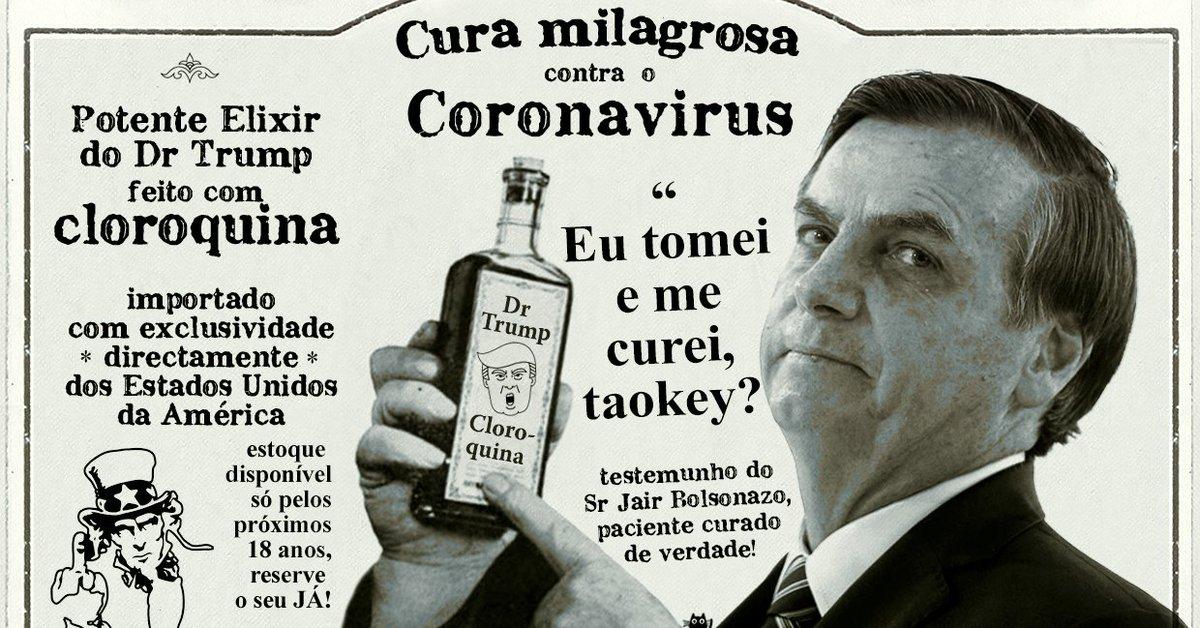 ⚠️ #URGENTE Potente Elixir 🧪do Dr Trump cura o Covid🦠 até em quem não tá INFECTADO!🙏👍 À venda nas boas pharmácias do ramo: #forcacorona