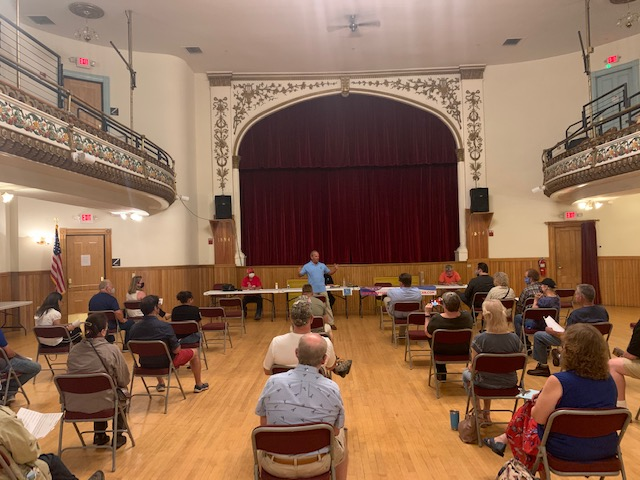 Today the campaign trail took me up north where I spent time in downtown Littleton!  I then spoke to voters & members of the Northern Grafton County Republican Committee.   The Littleton Opera House is a beautiful historical building!  @NorthernNHGOP   #nhpolitics  #nhsen
