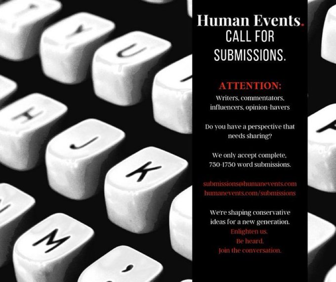 """FYI: If anyone actually has a substantive response to the Qatar piece (or any other piece), we are always looking for *researched and well-reasoned"""" responses at @HumanEvents   Send them in to submissions@humanevents.com  $150/published piece"""