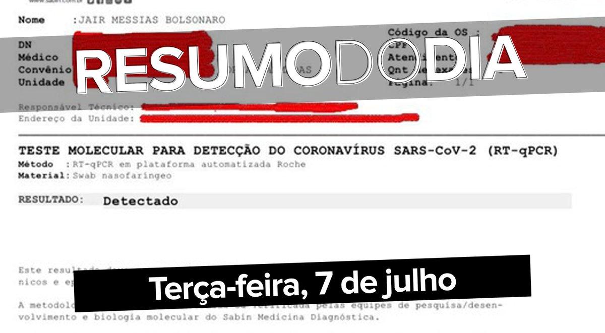 Bolsonaro infectado, o novo coquetel que combate o vírus do HIV, o manual do TikTok, e os velhinhos guerreiros que venceram o coronavírus; veja o que foi notícia ==>  #G1 #ResumoDoDia