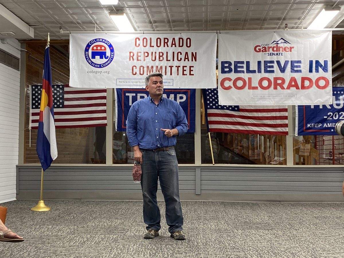 Great to be in Mesa County today with @CoryGardner and @laurenboebert. Colorado Republicans are united and excited to win in November. #copolitics #ResultsMatter